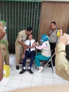 UPT Puskesmas Beji Adakan Vaksin Campak Rubella