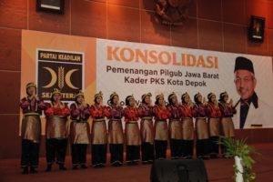 Tarian Saman Mengisi Acara Konsolidasi Pemenangan Pilgub Jawa Barat 2018
