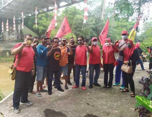 Aksi Hijau, PDI Perjuangan Kota Depok Bersih-Bersih Bantaran Sungai Ciliwung